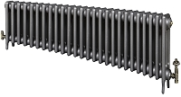 Eastgate Victoriana 3 Column 26 Section Cast Iron Radiator 450mm High x 1599mm Wide - Metallic Finish